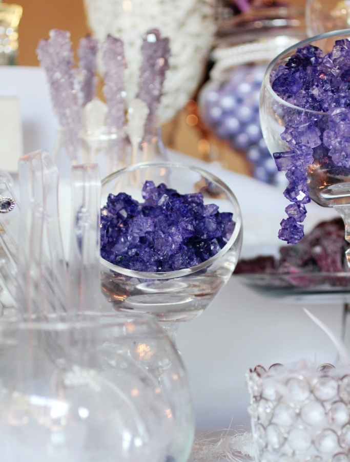 purple sugar rock candy