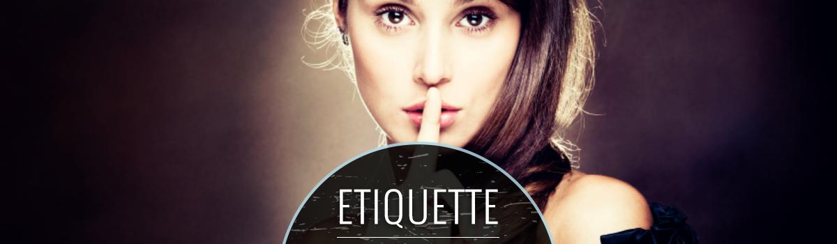 etiquette illustration with woman