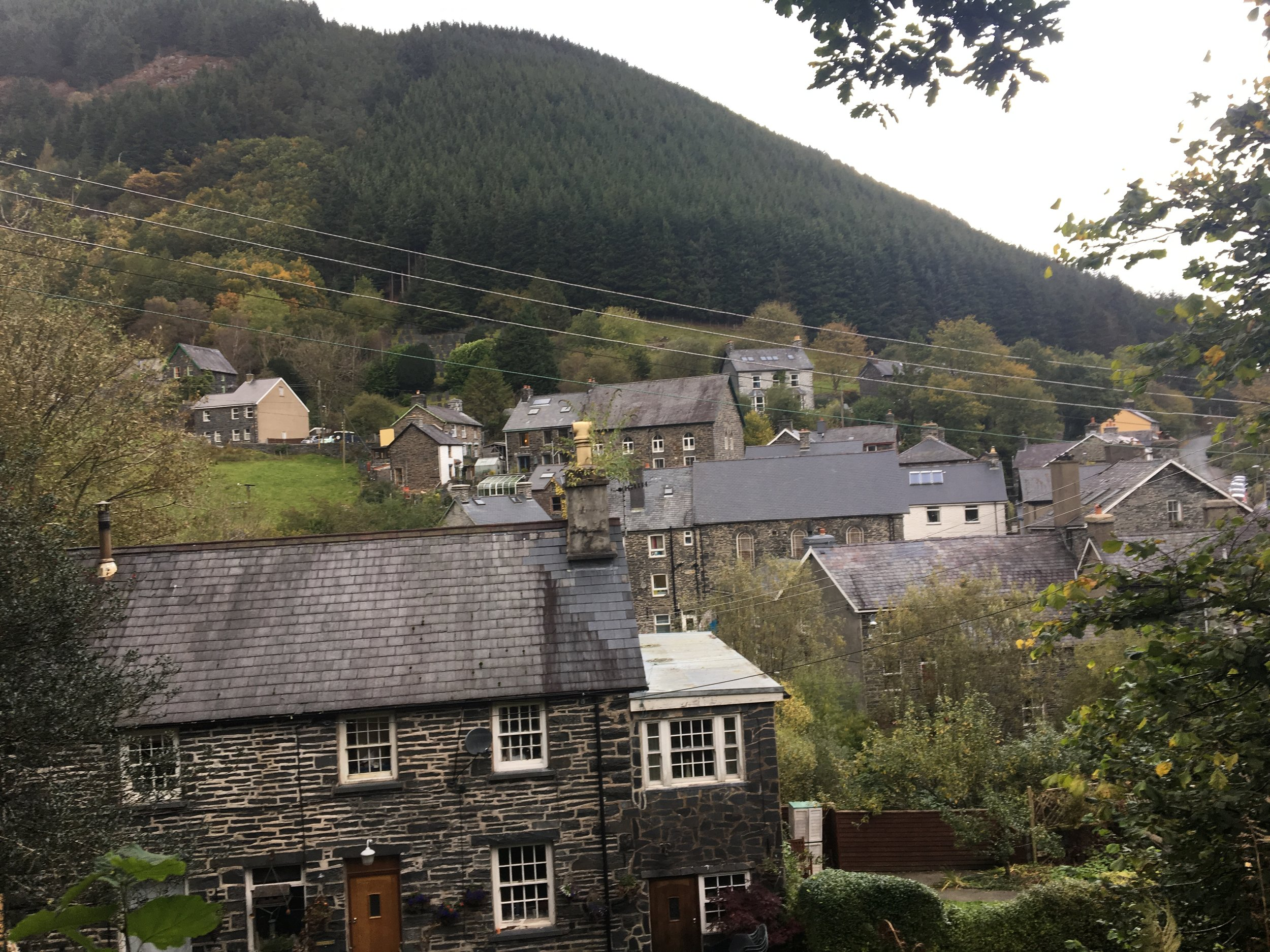 The town of Corris