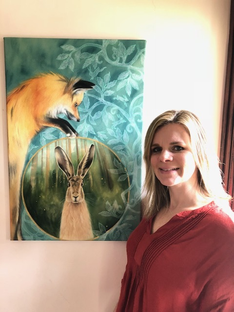 The Fox and the Hare, 20X30 inches