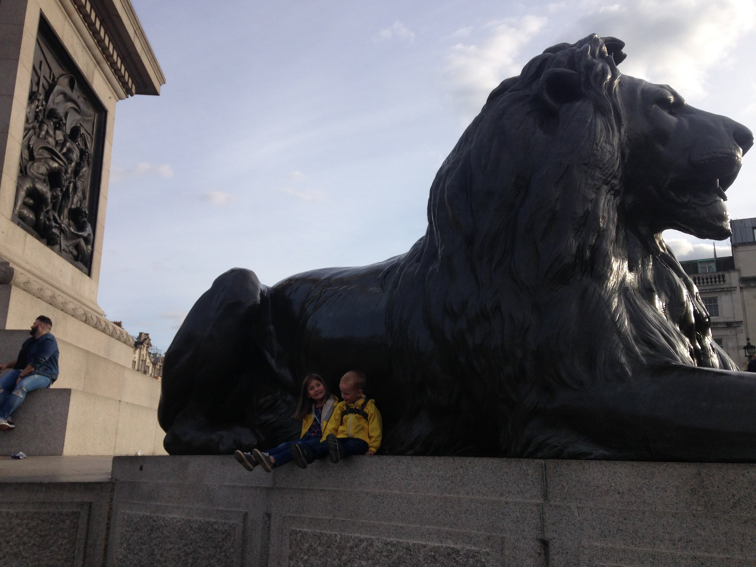 The lions of Trafalgar Square were a huge hit, again thanks to the prominent role they had played in some kid's books we read before our trip. The kids couldn't wait to touch them in person to see if they came alive.