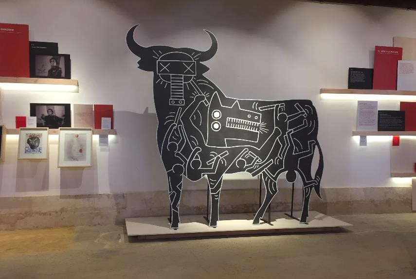 In the bull museum portion of the tour, you get so see the bull all decked out courtesty of some really impressive artistic collarboartions.