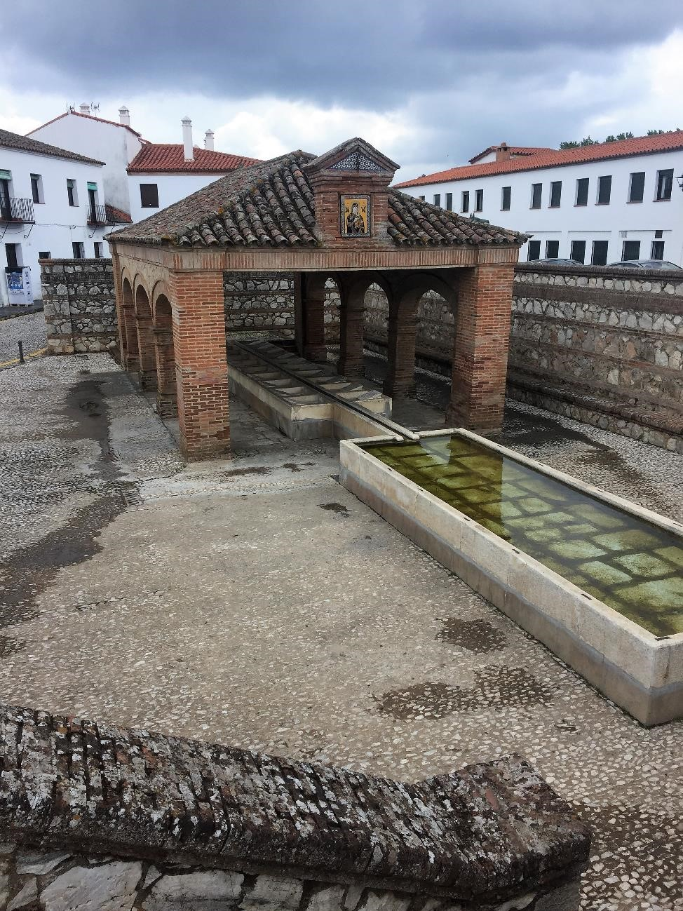 One of my favorite features of Aracena, as well as the small town where we studied jamon, were the laundry houses full of stone washboards. Laundry is one of my least favorite things, but I was so charmed by these public spaces that would have brought a whole town together.