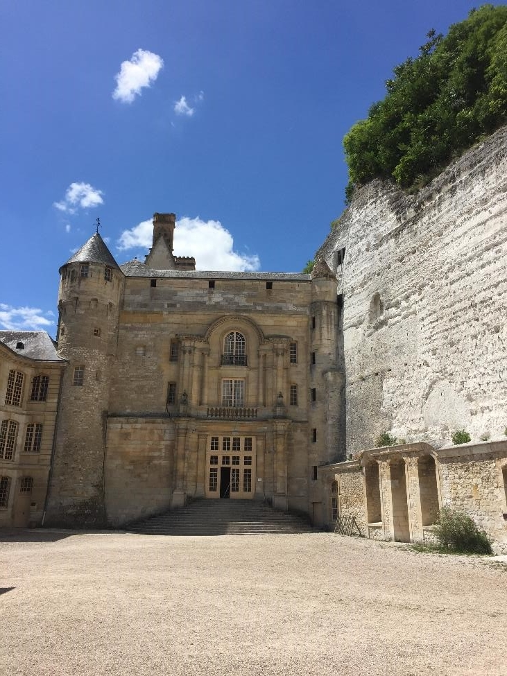 Part of the Chateau was beautiful palace, while other portions were carved into the cliff side.