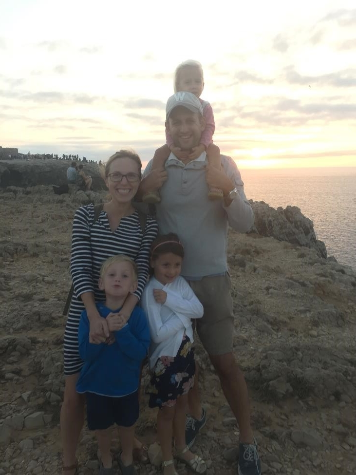 Watching the sunset in Sagres, Portugal.