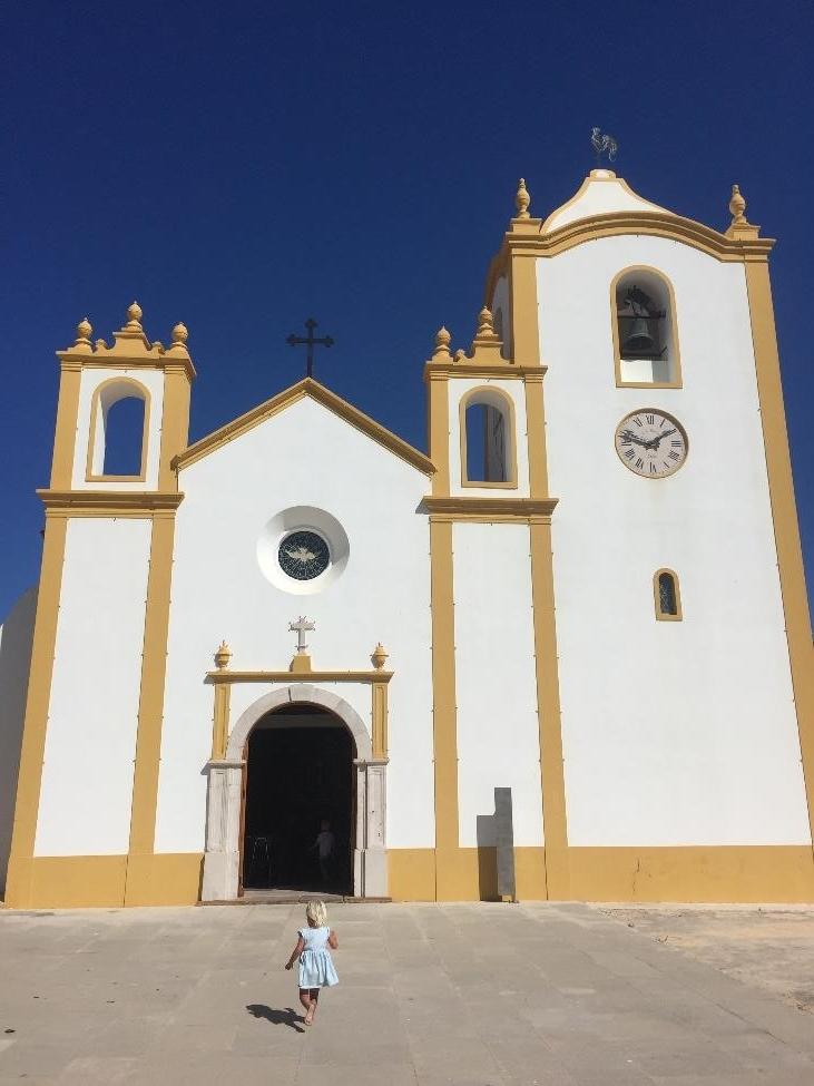 The beautiful church in Luz, Lagos, Portugal.