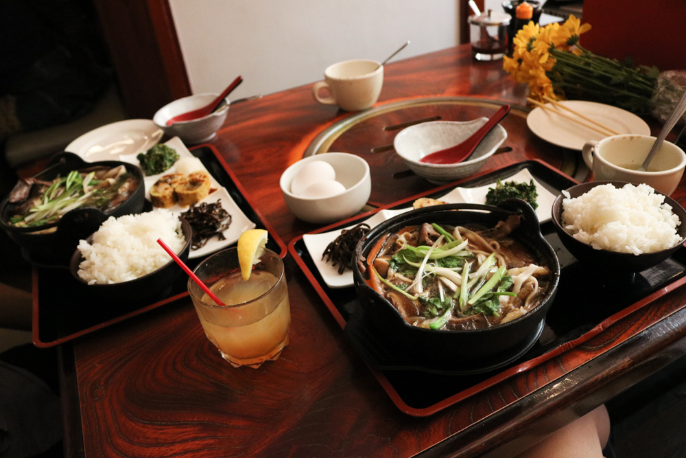 Beef Sukiyaki lunch set for two