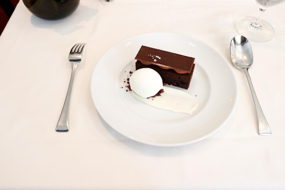 Torta di Cioccolato,  dark chocolate, coffee, fior di latte