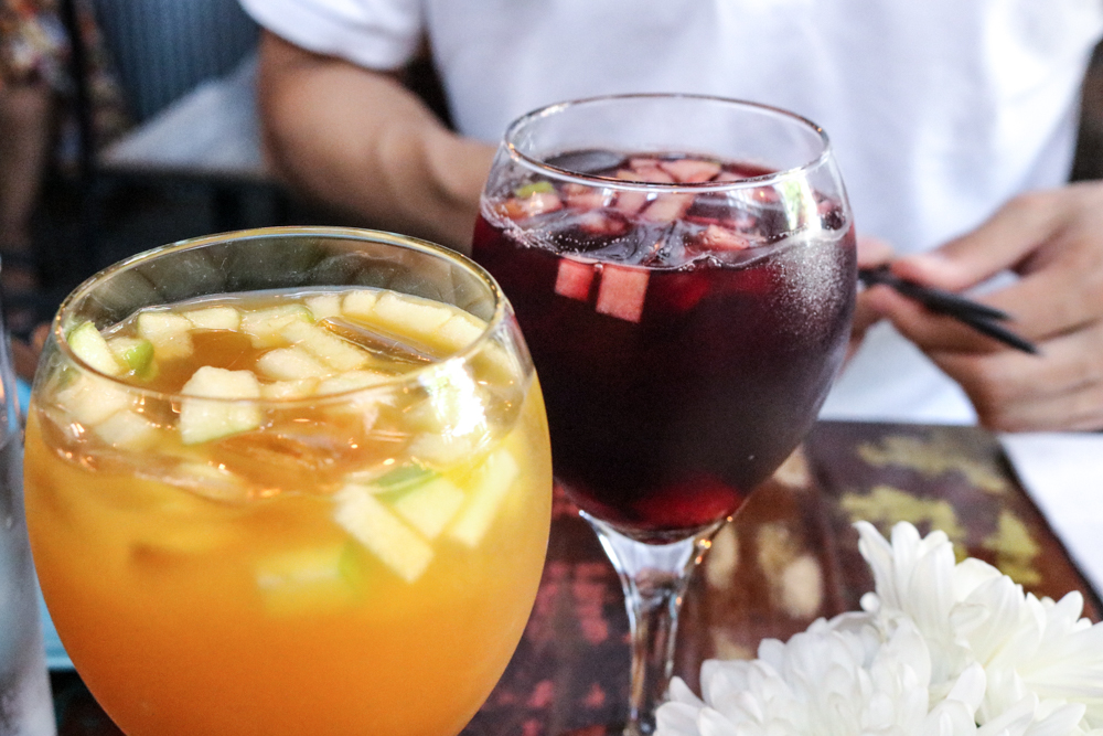 (front) White Sangria, (back) Red Sangria