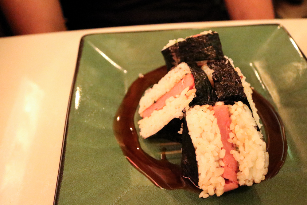 Spam Musubi,  Spam and rice wrapped in seaweed, Hawaii's favorite snack