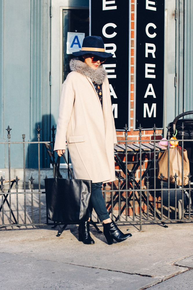 Barney's New York Tote, Via Spiga Boots, Urbanoutfitters Sunglasses