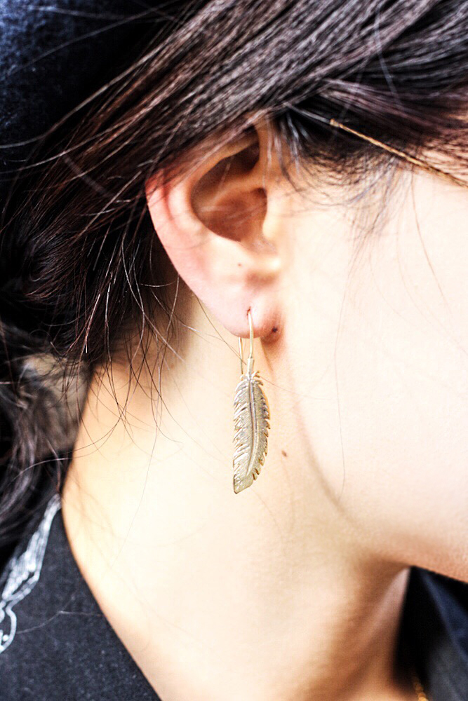 Feather Earring by  A Gilded Leaf