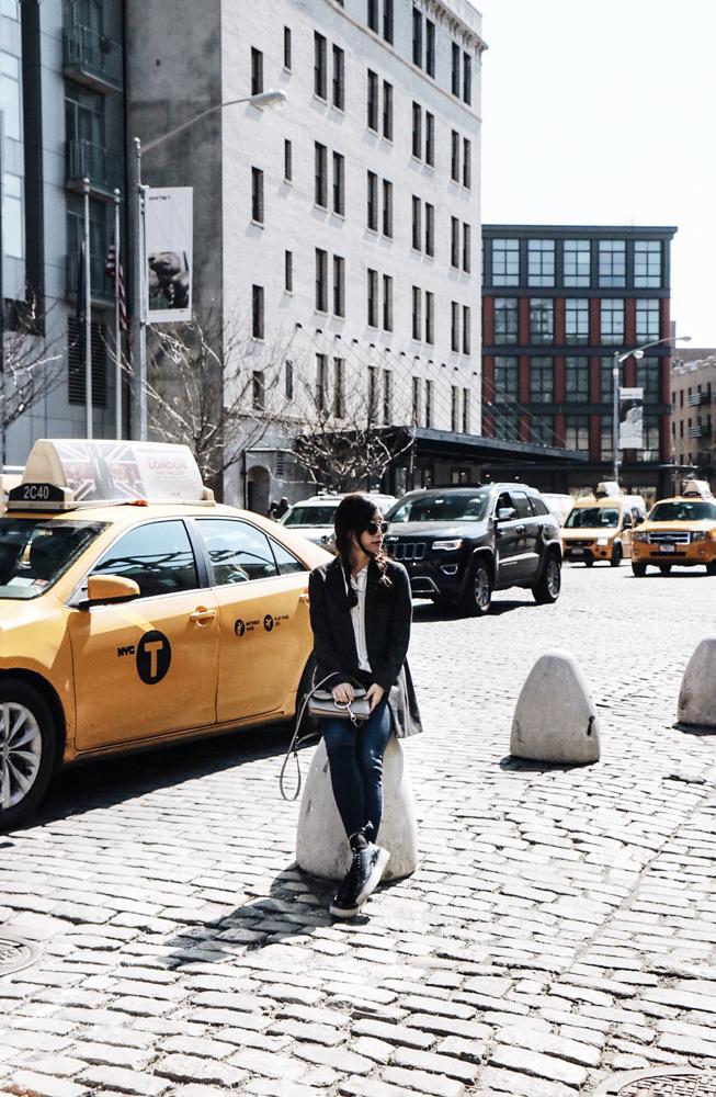 Illesteva Sunglasses, Chloé bag, Ulla Johnson Shirt, COS Blazer, Urban Outfitters Jean, Zara Shoes