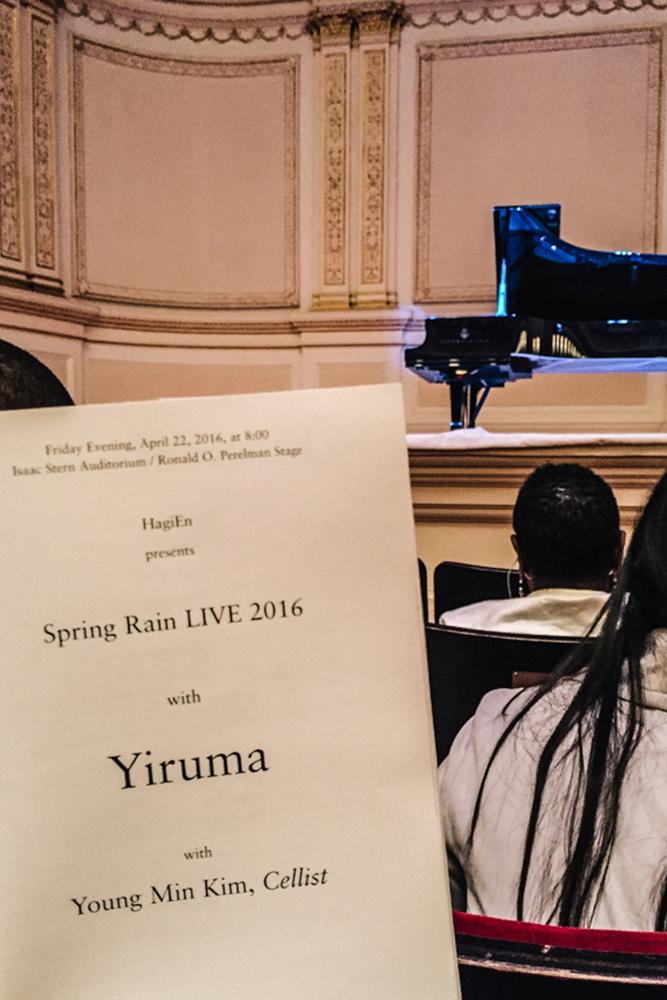 Spring Rain LIVE 2016,  Yiruma