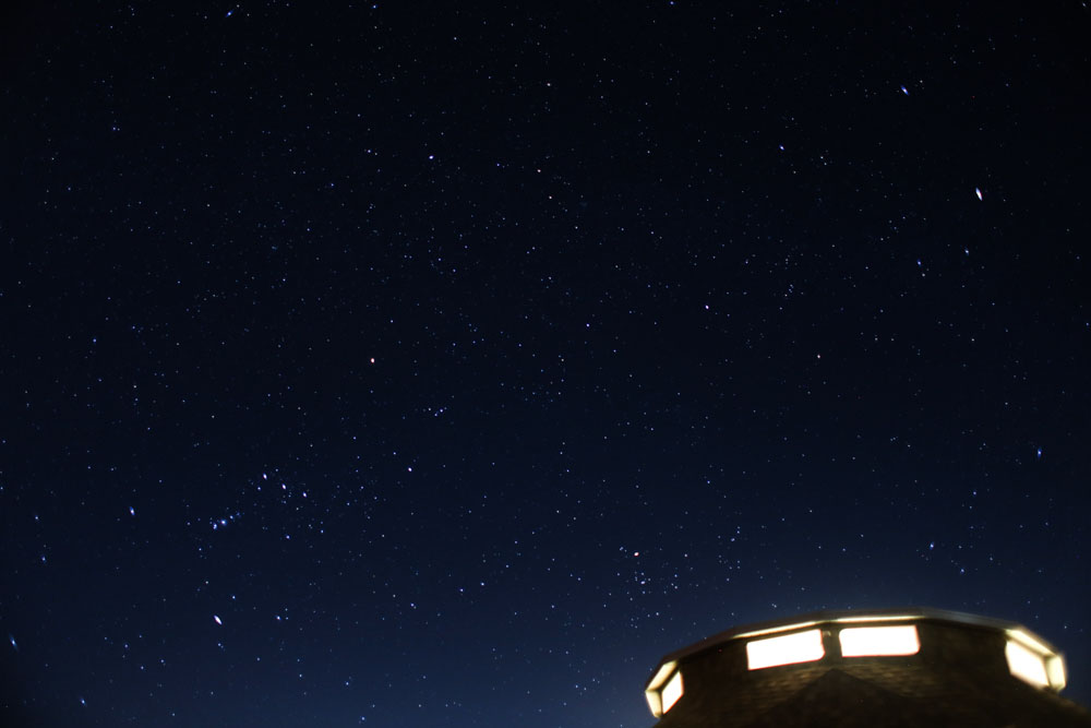 The night sky view from our backyard, amazing.