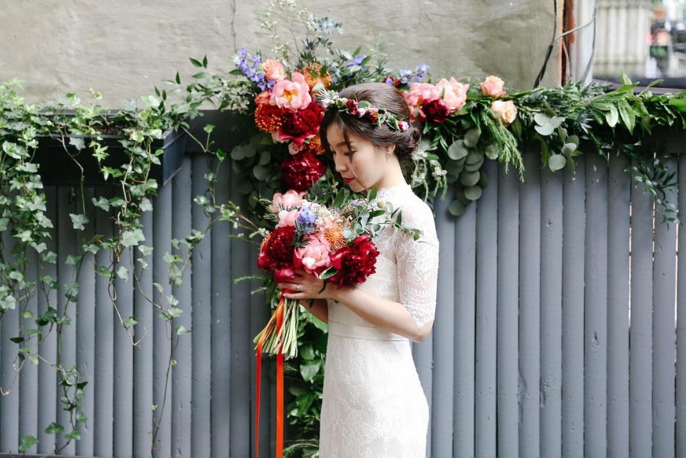 Wearing/  BHLDN  Wedding Dress