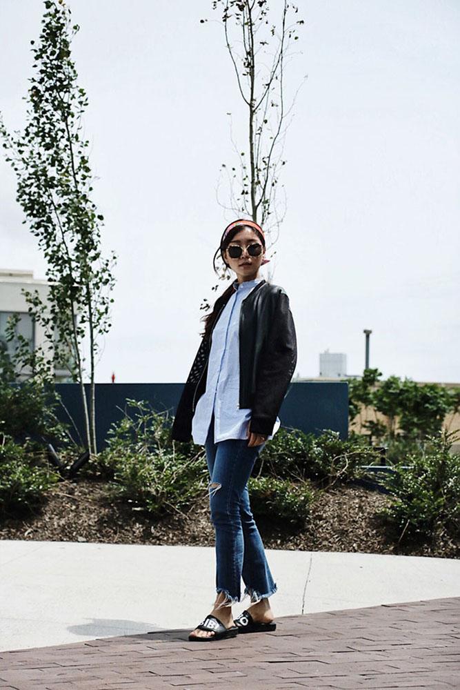 Wearing / Gentle Monster Sunglasses, Sandro Jacket, Helmut Lang Shirt, Jeans from DDM Korea, Adidas Slippers
