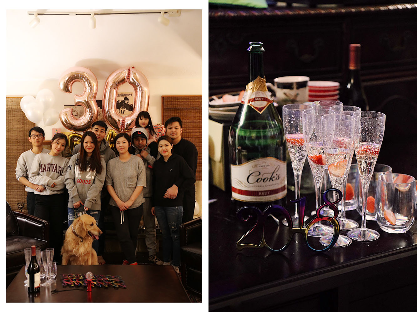 Celebrating  Sarah 's 30th (12/31) and New Year 2018!
