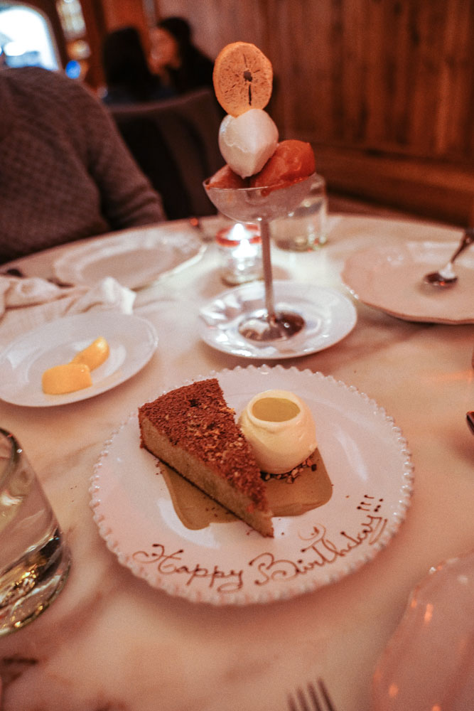 Sicilian Pistachio Cake, Olive Oil Ice Cream