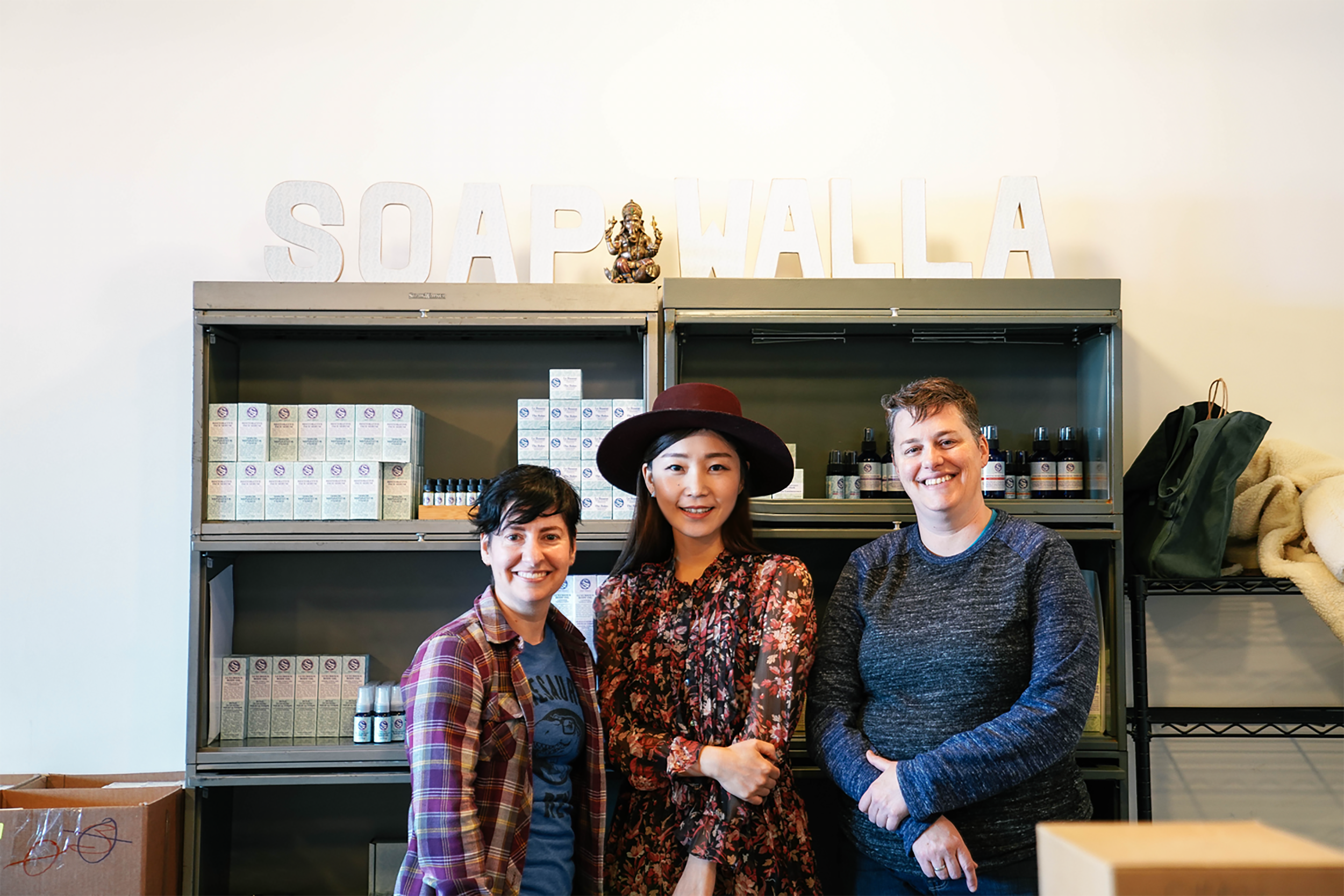 With Rachel and Stacey of Soapwalla. Thanks a ton for great time!