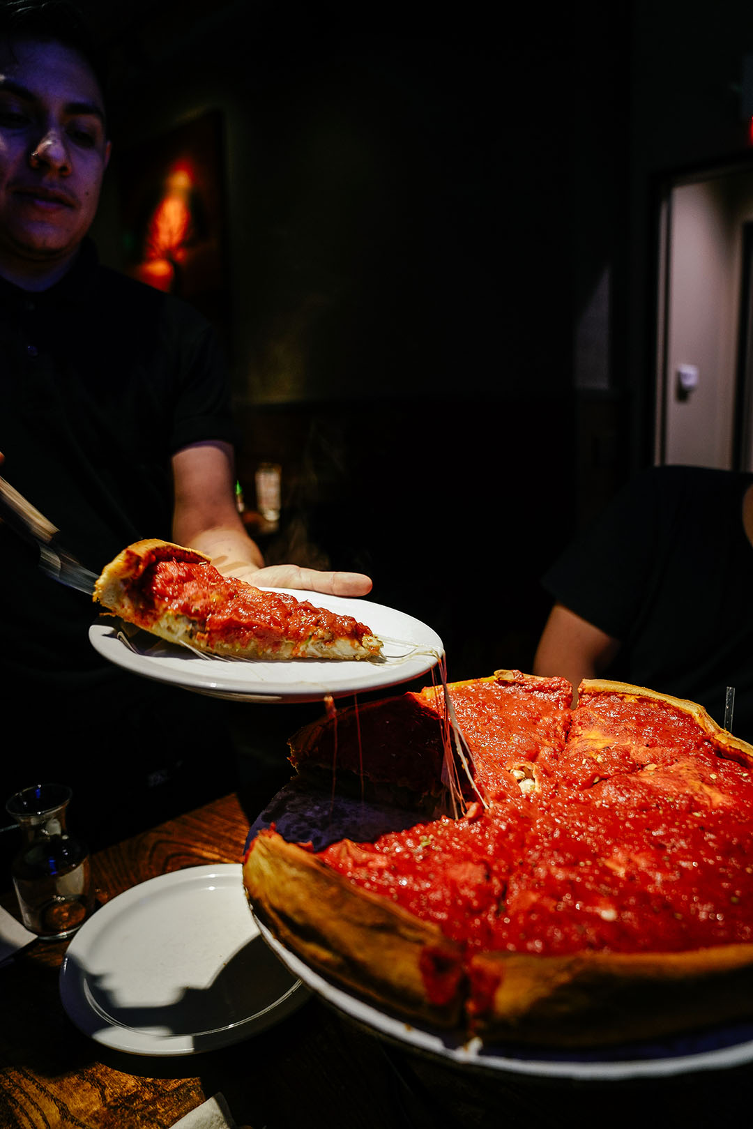Deep Dish Pizza at  Patxi's Pizza  (This is not Chicago btw)