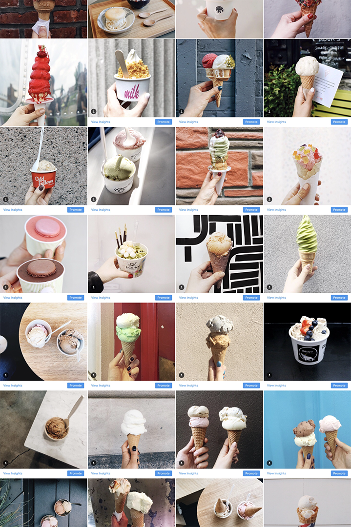 Our Ice Cream Photos on Instagram, since 2015.