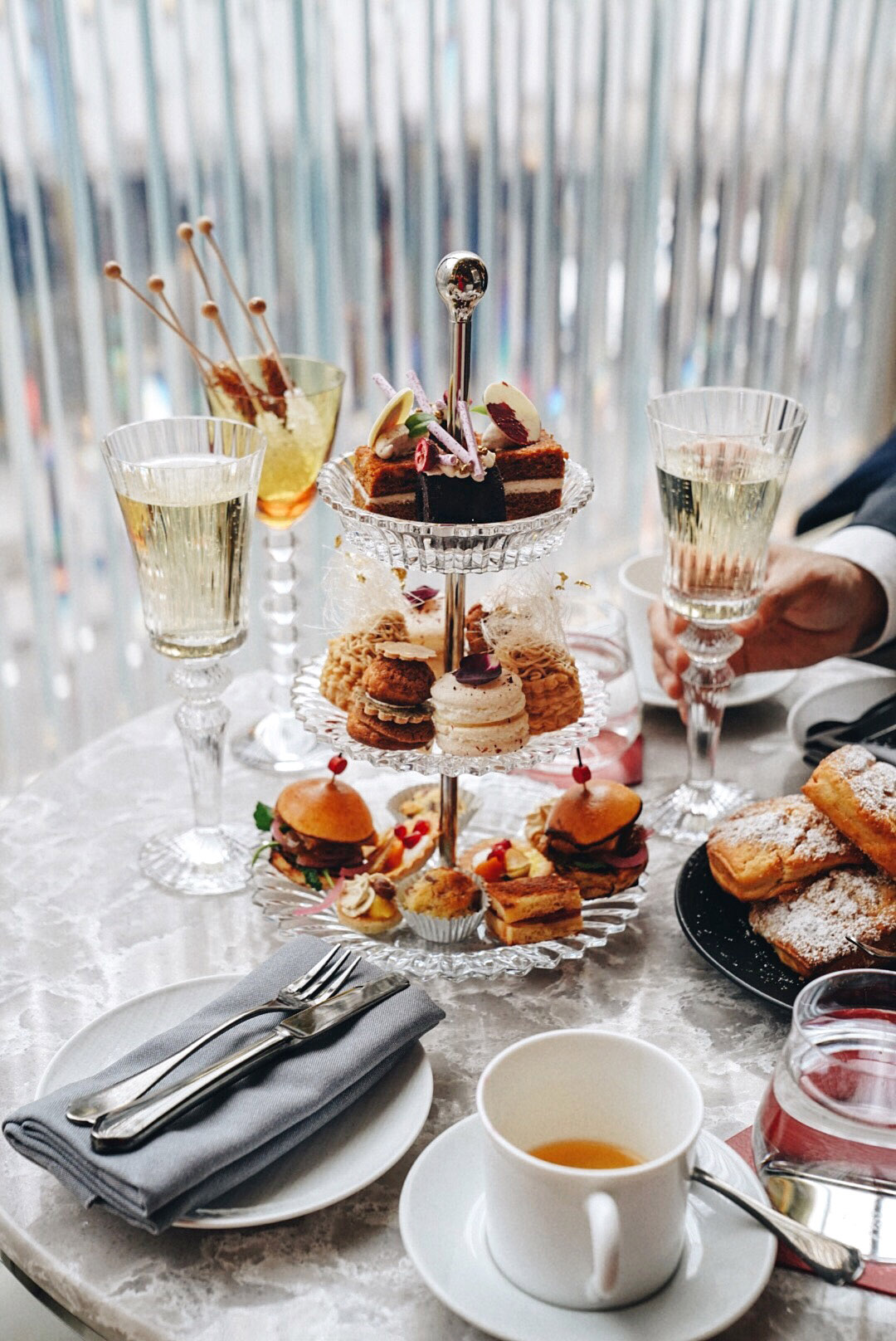 'Twas the night before Christmas ,  Holiday afternoon tea at Baccarat Hotel