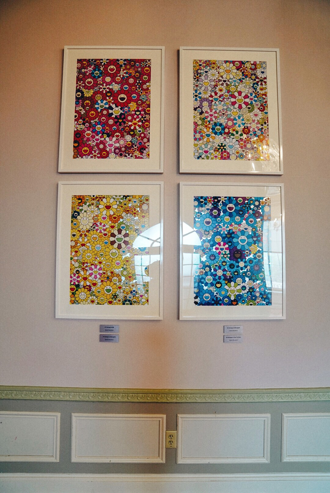 An Homage to Yves Klein Multicolor A (4 works total) by Takashi Murakami