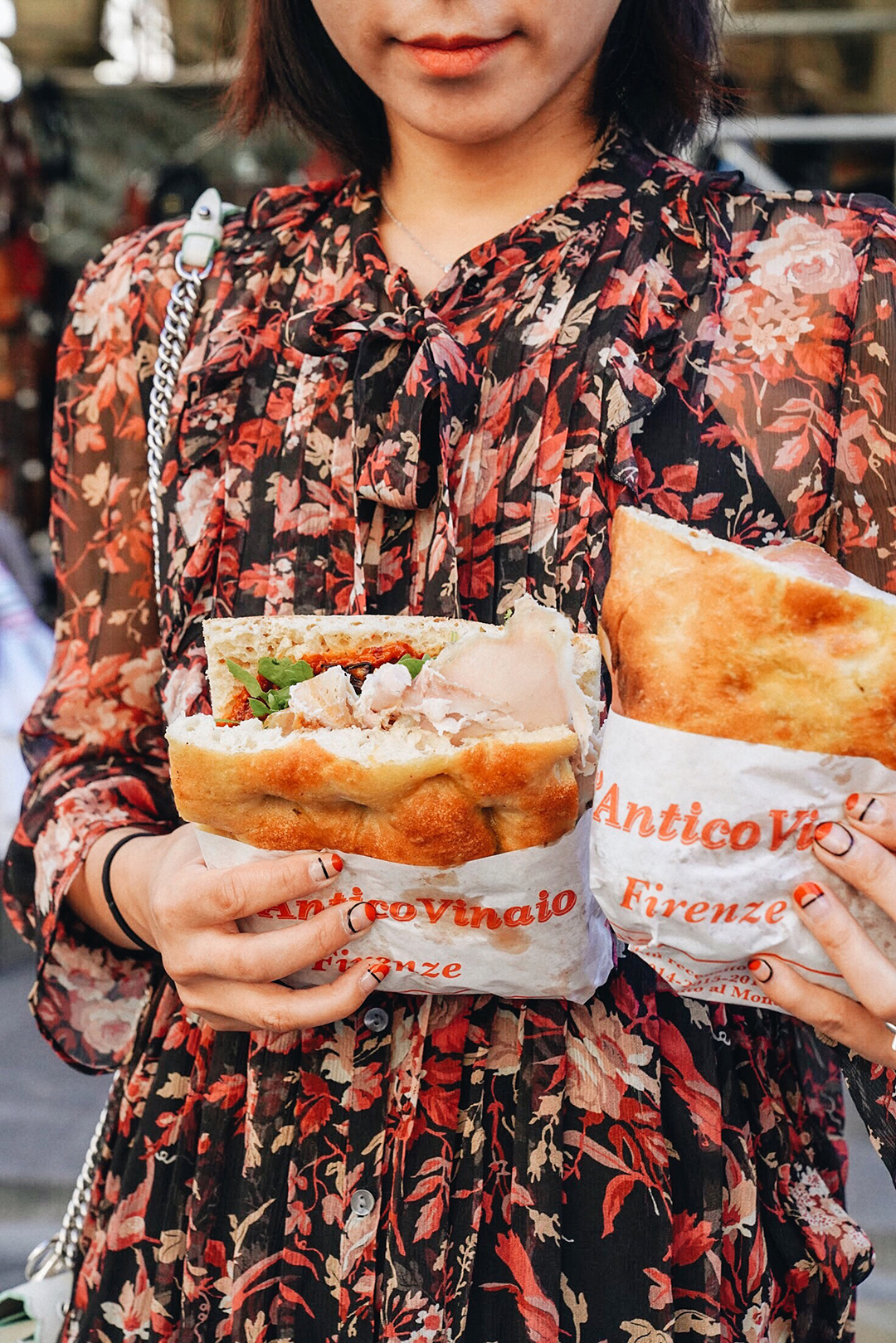 Giant Paninis from  All'antico Vinaio Firenze