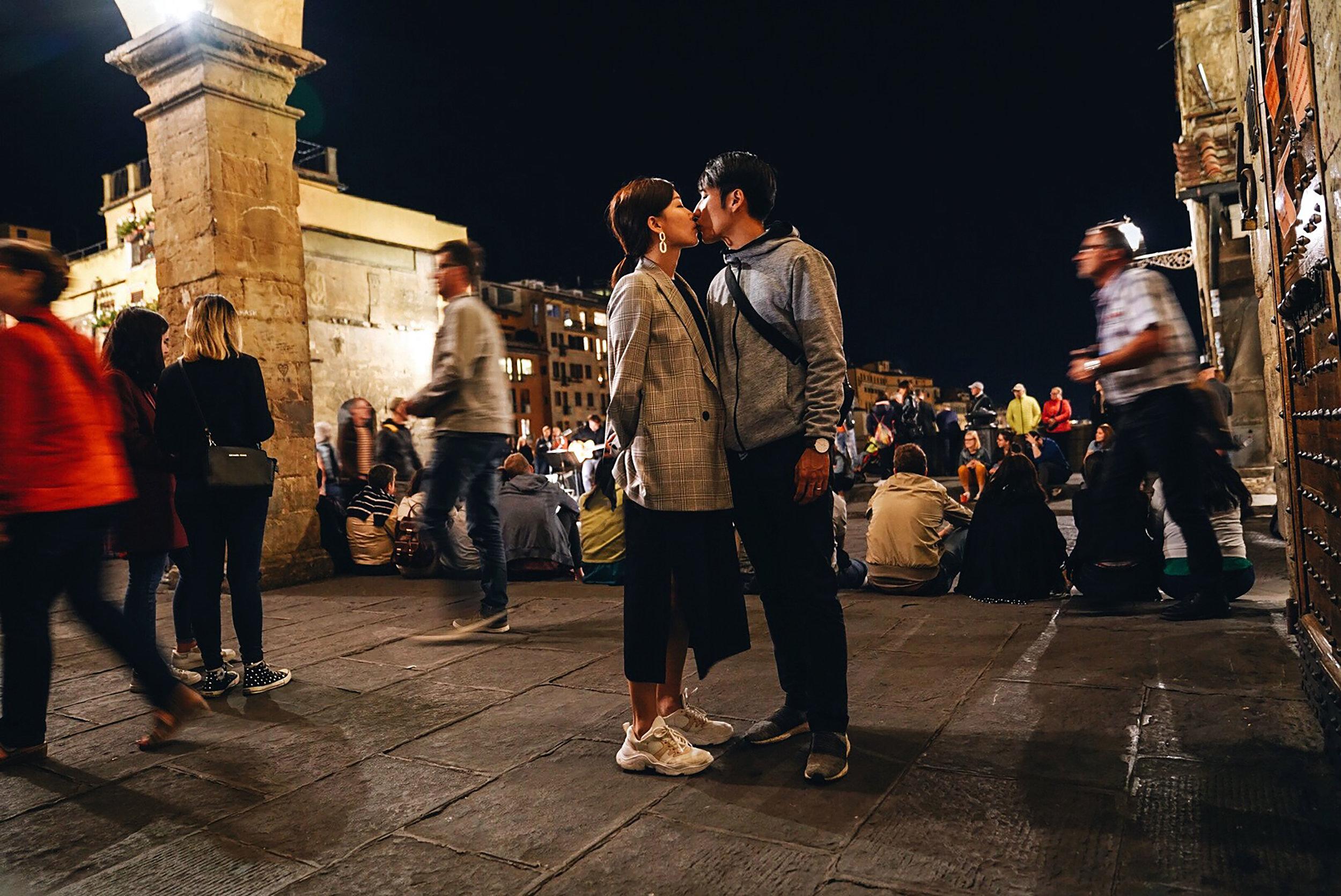 Lovers on Ponte Vecchio