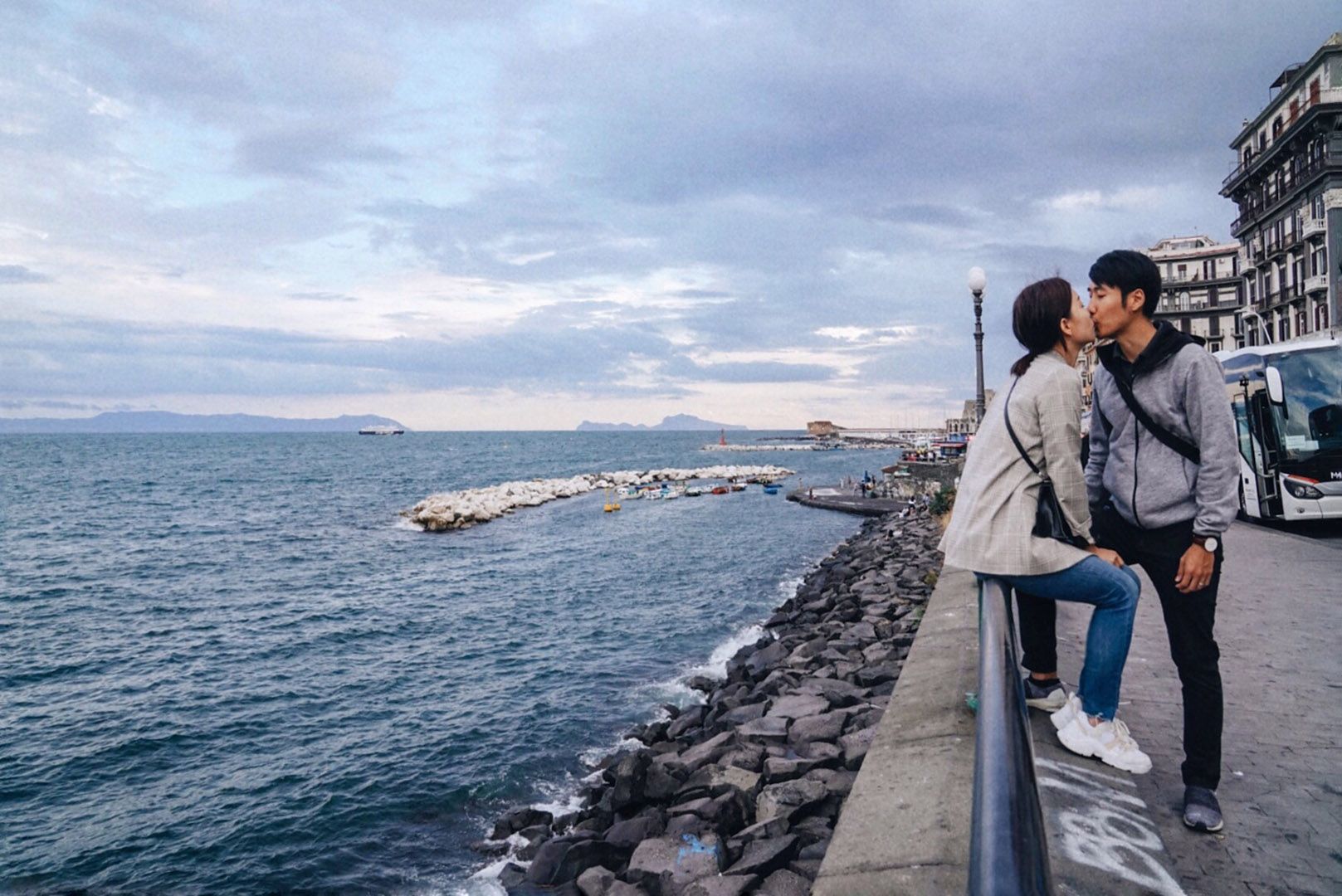 Lovers by The Gulf of Naples.