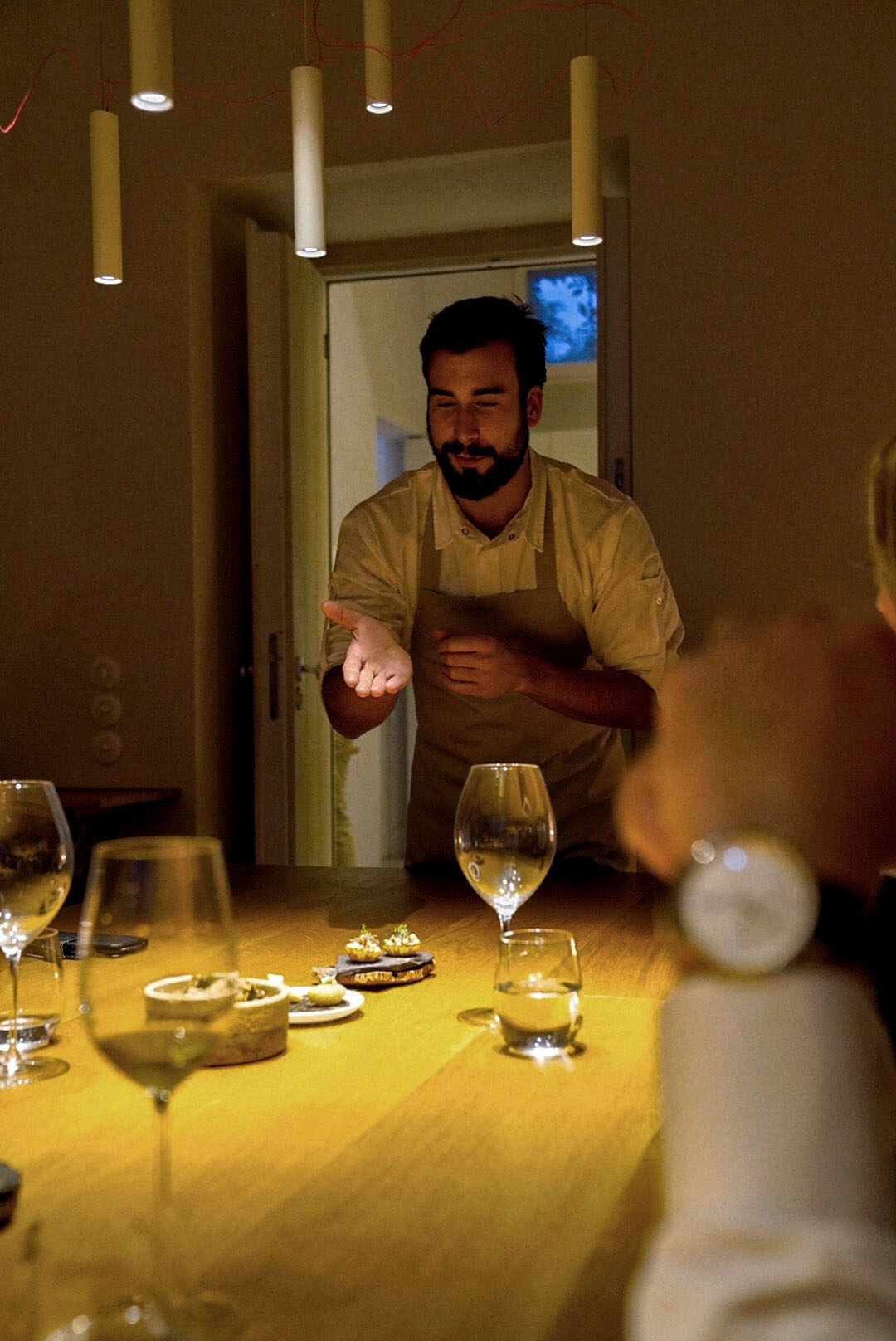 Chef  Pedro Pena Bastos  at Ceia.