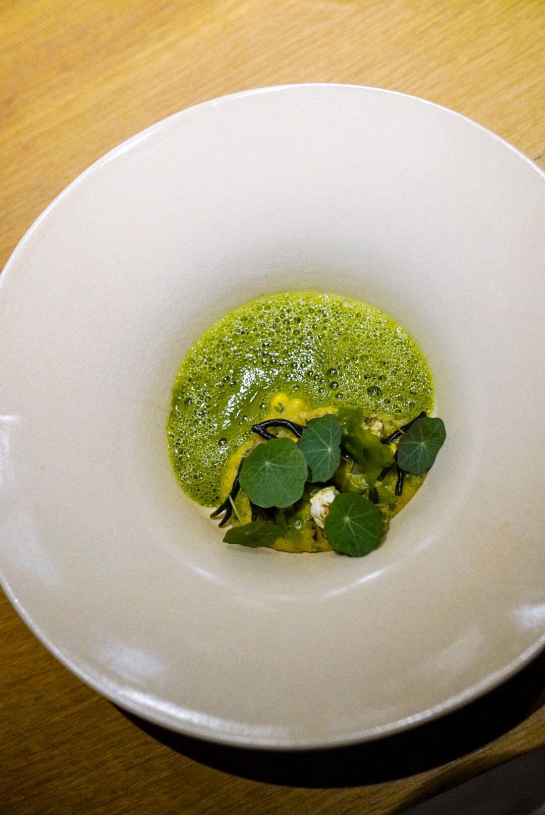 "Corn, ""xerém"", seaweed, indian cress"
