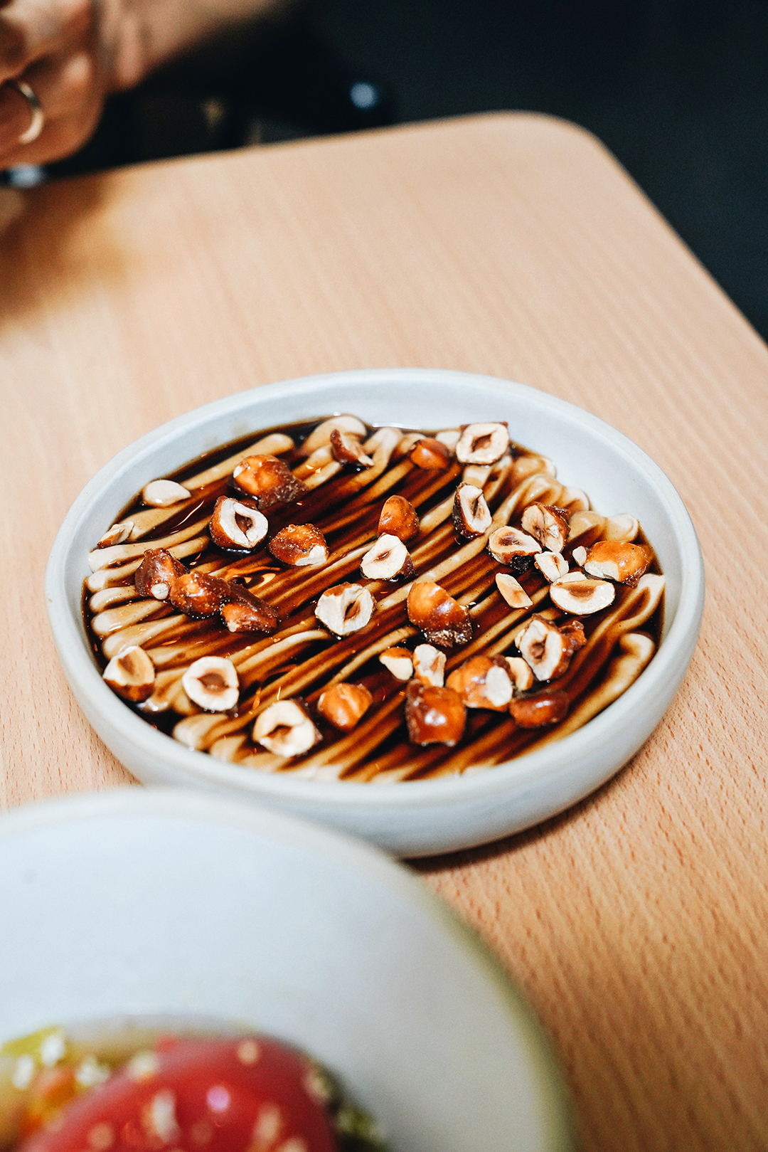 Coffee flan & hazelnuts
