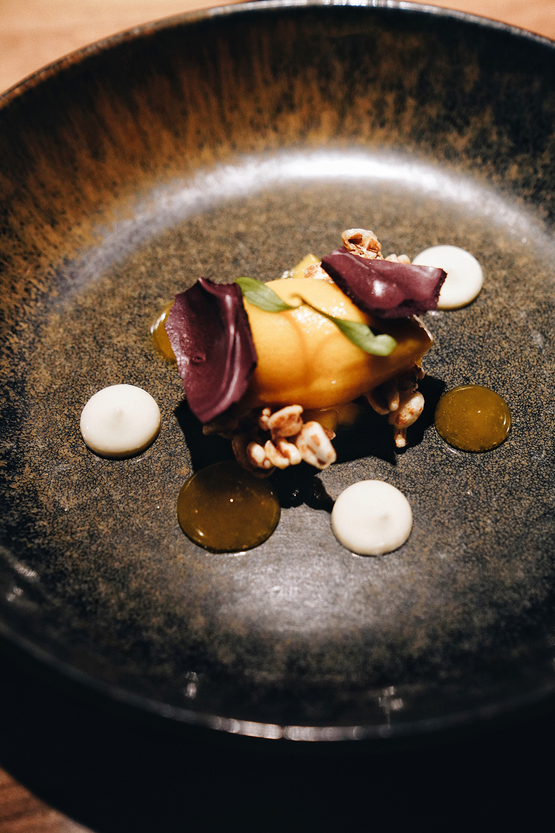 Passionfruit and yoghurt
