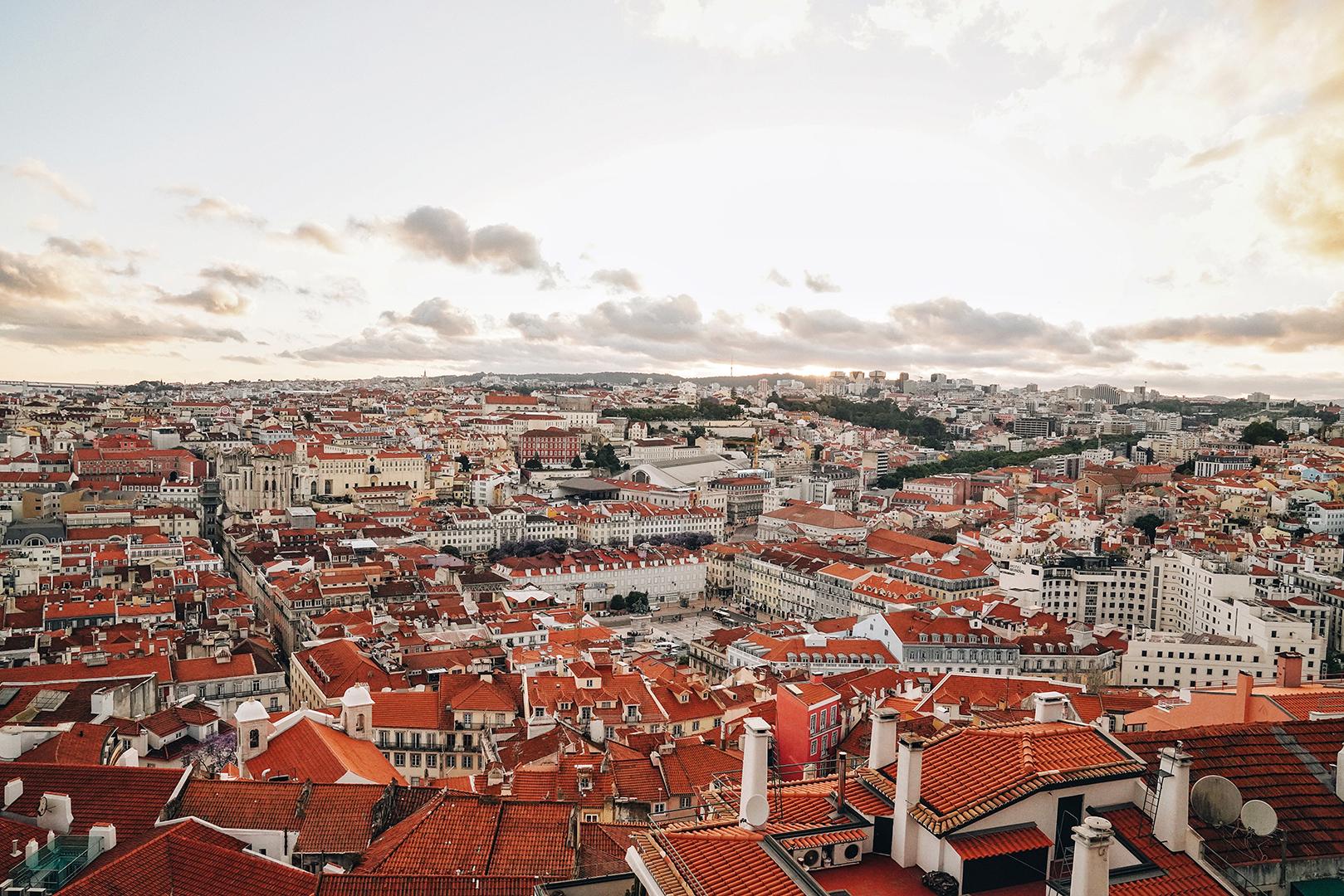 Sunset over this beautiful city, Lisbon