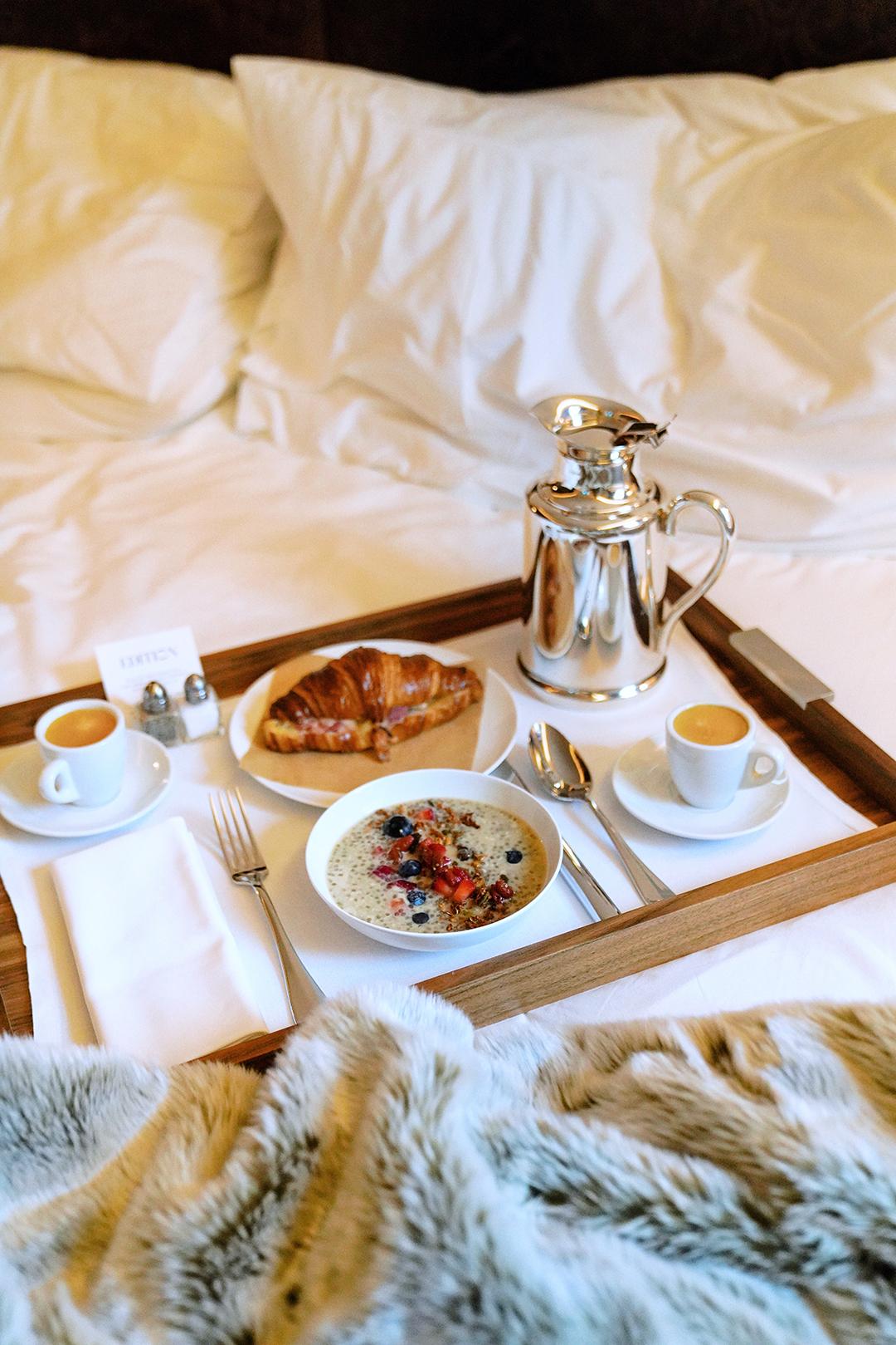 Breakfast in Bed before departure.