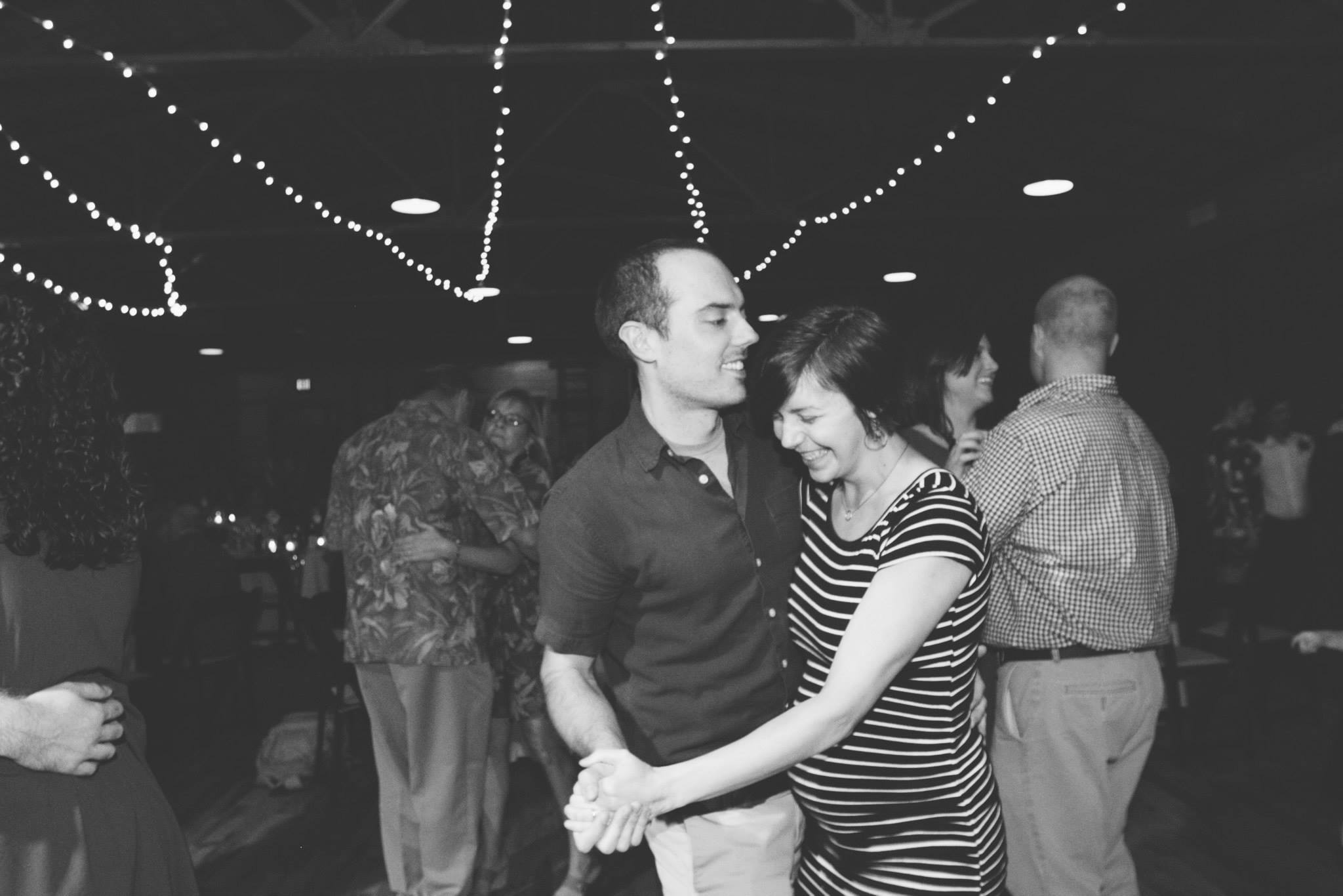 Travis and pregnant me dancing at a wedding in 2014. I danced so much during that pregnancy and I'm happy to say that Audrey loves to dance too.