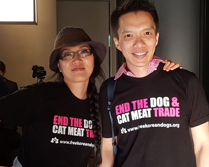 EK and Will - We met EK Park (Founder, Executive Director) and Will Yang (Board of Directors) through adopting Zappa, and it is clear that they are fully invested in the cause of ending the dog and cat meat trade and giving these animals a second chance.
