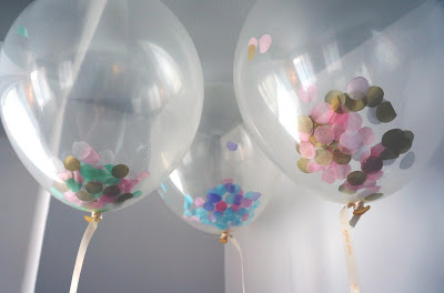 confetti-filled balloons : meg-made