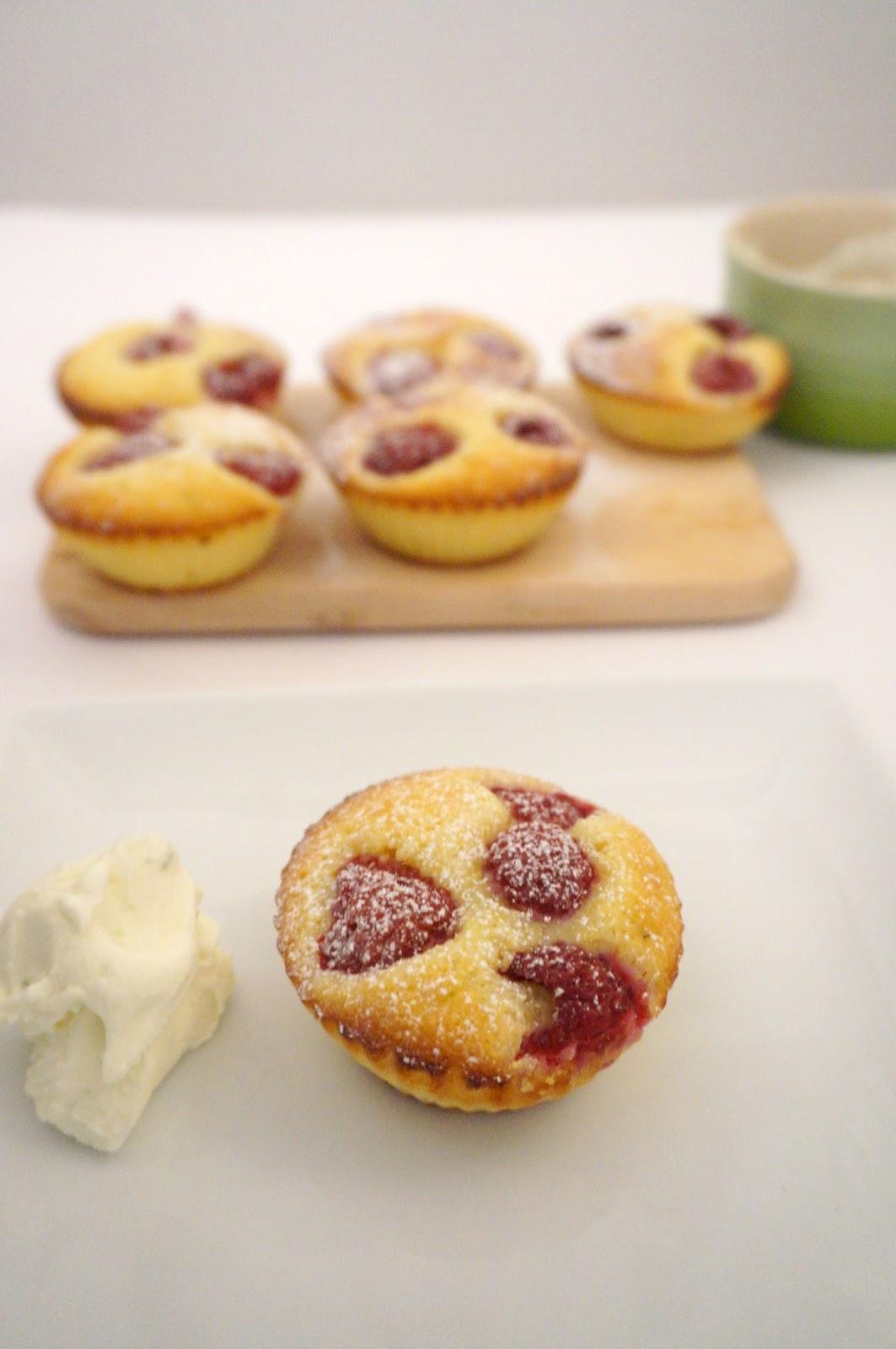 Raspberry and lime financiers gluten free