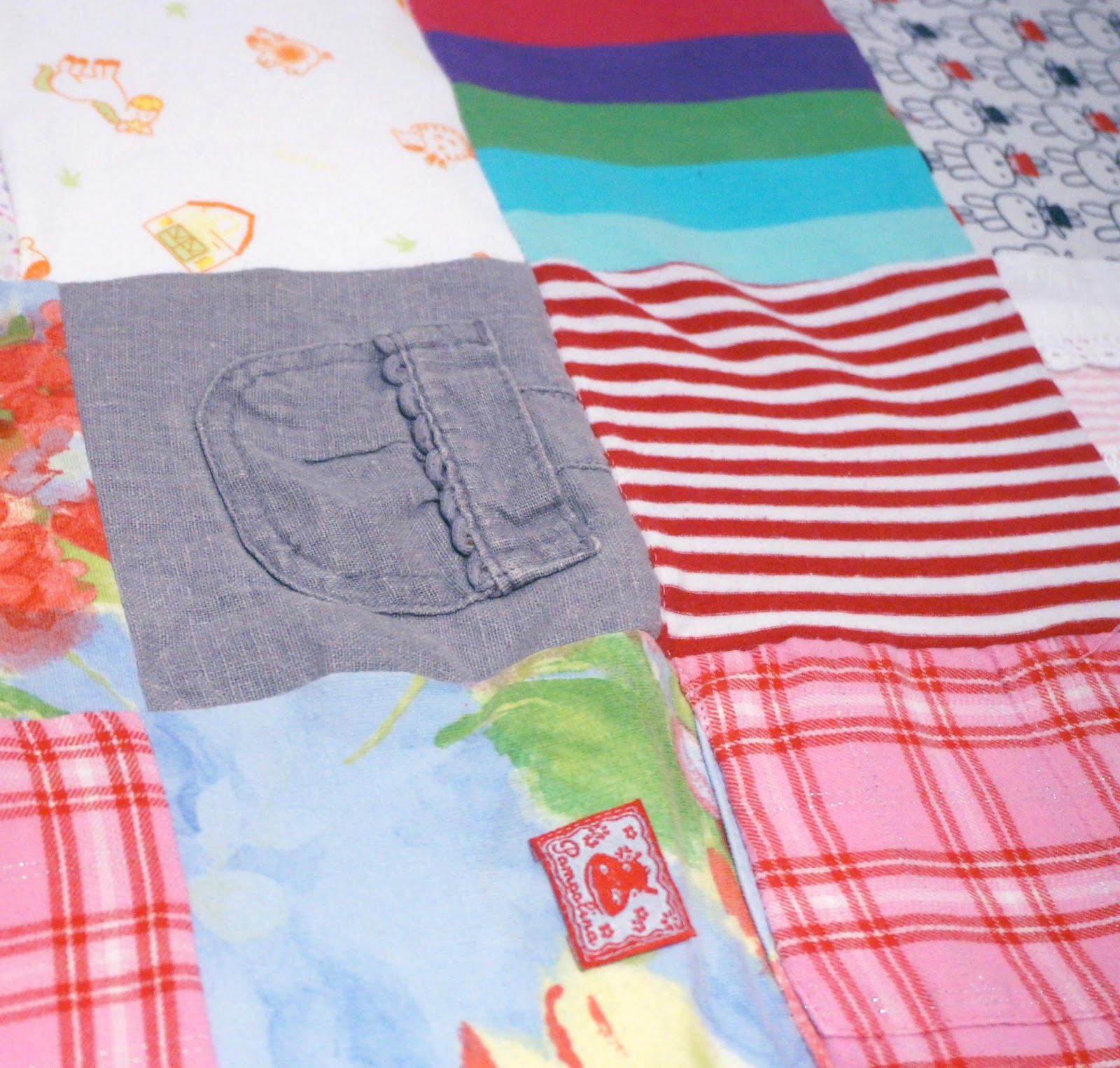 meg-made: Baby Clothes Patchwork Quilt