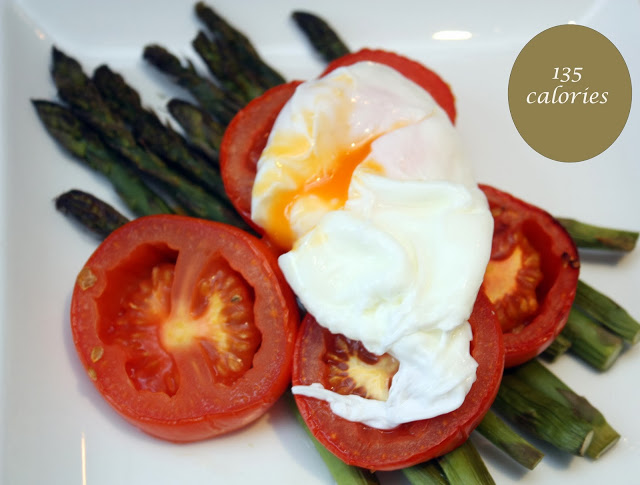 meg-made: poached eggs with asparagus and tomatoes