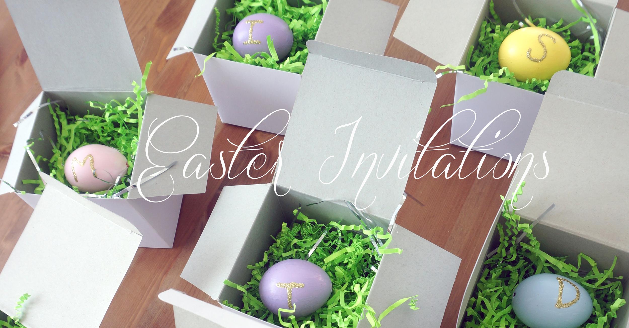 meg-made Easter Invitation