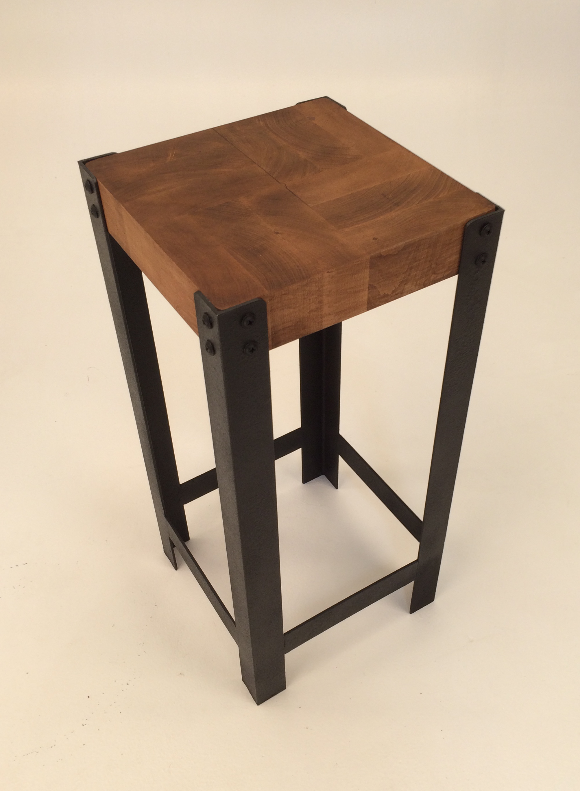 End Grain Wood Drink Table