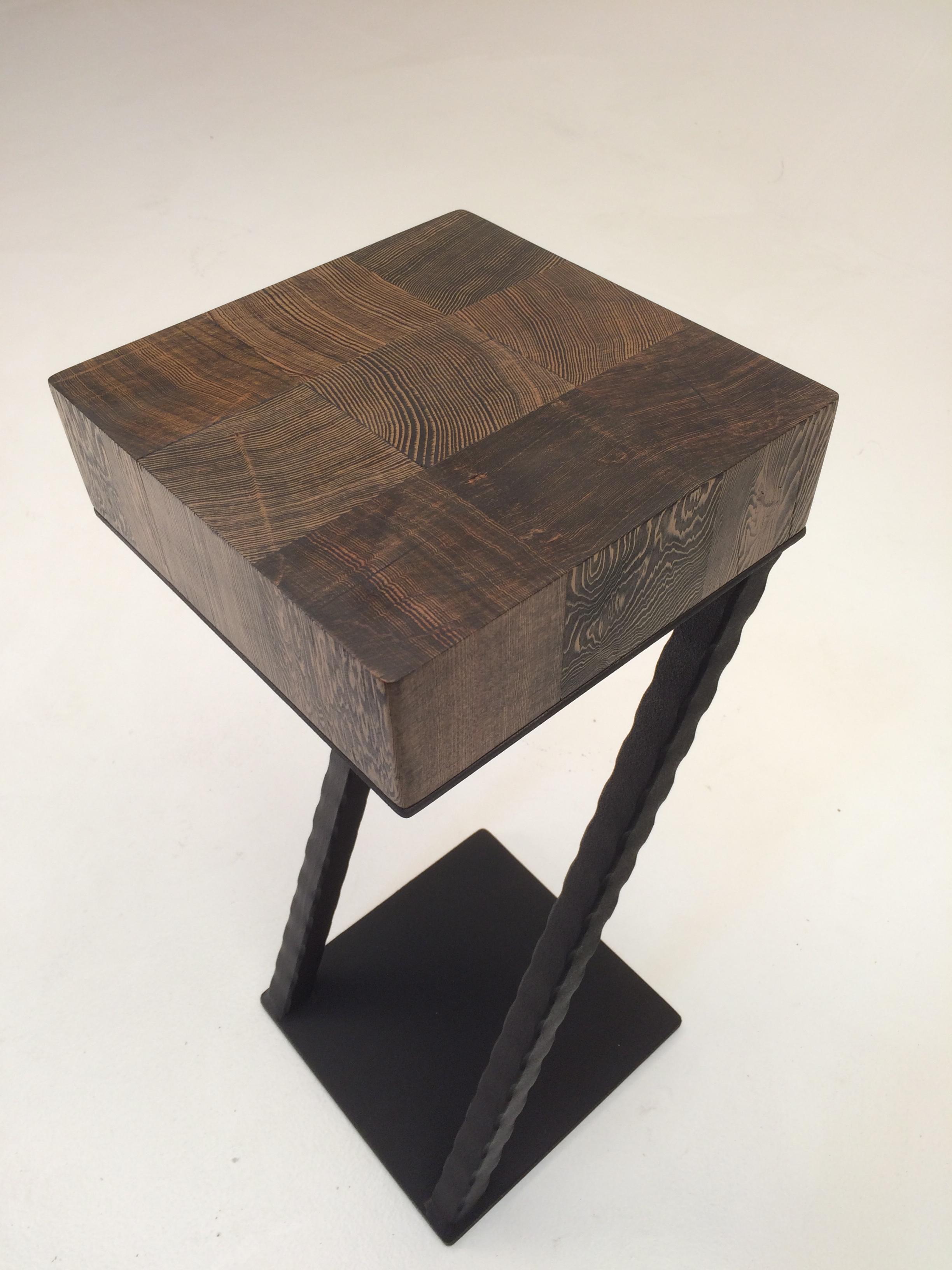 End-grain Wood Drink Table