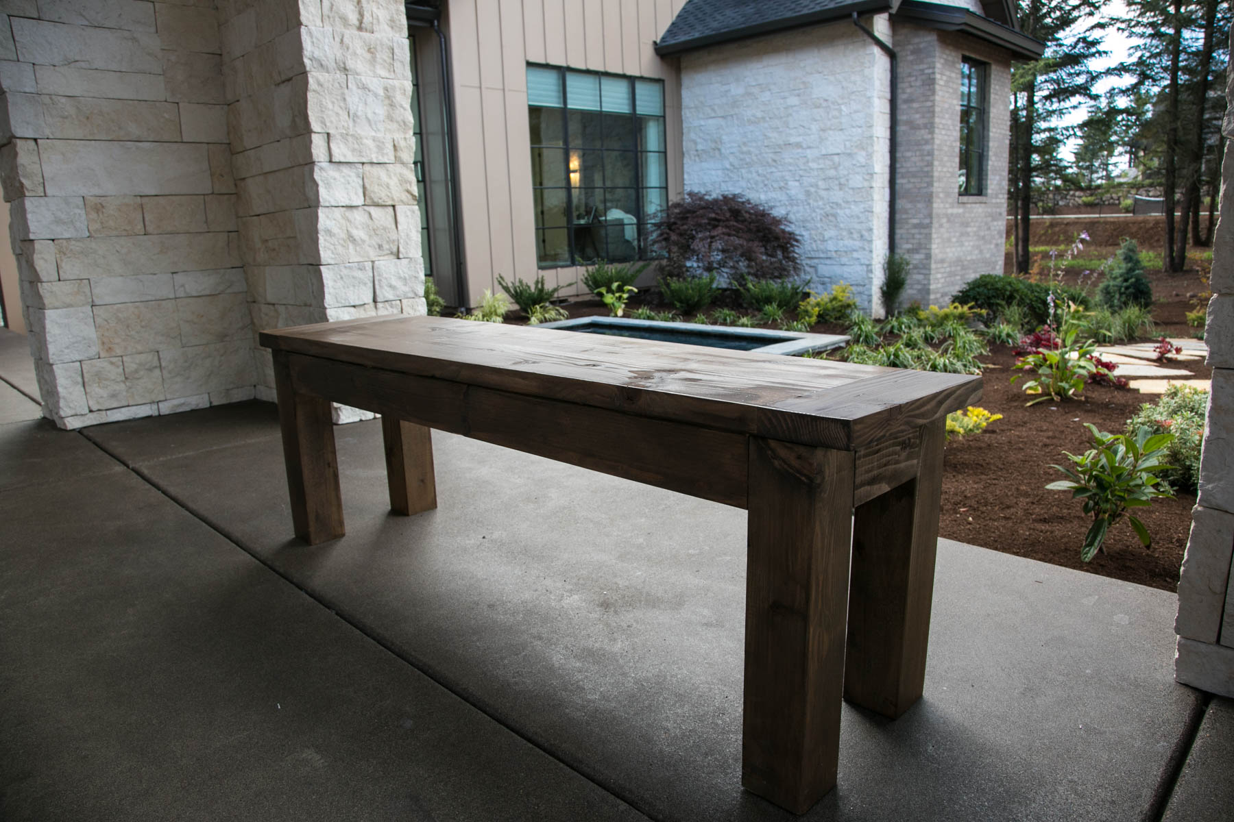 Walnut Entryway Bench