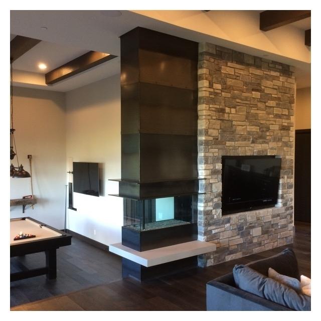 Mild Steel Fireplace Detail