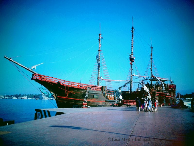 """A """"pirate ship"""" on which we took a daytriptwo years ago. Credit: Lisa Myers Bulmash"""