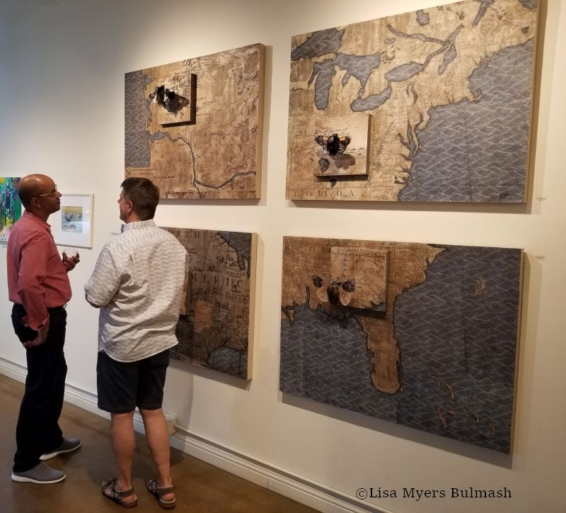 """Rare & Exquisite"" collage series by Lisa Myers Bulmash at Columbia City Gallery"